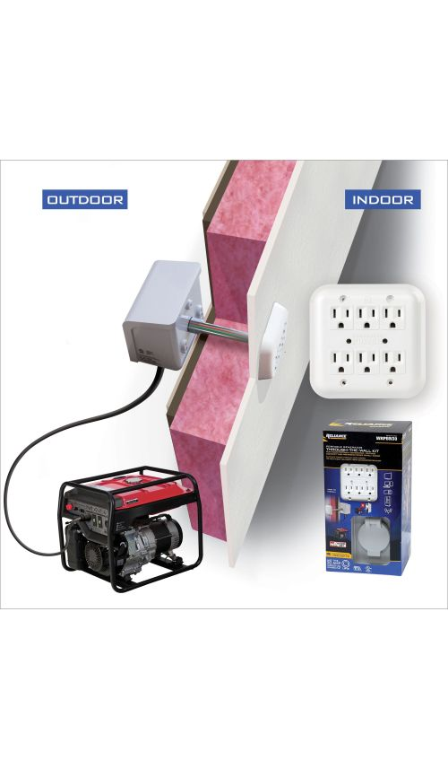 small resolution of generator through the wall kit