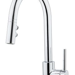 Chrome Kitchen Faucet Cupboard Hardware Kent Ca Fullerton Single Handle Pull Down