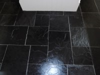 Tired Black Slate Tiled floor in Sevenoaks restored