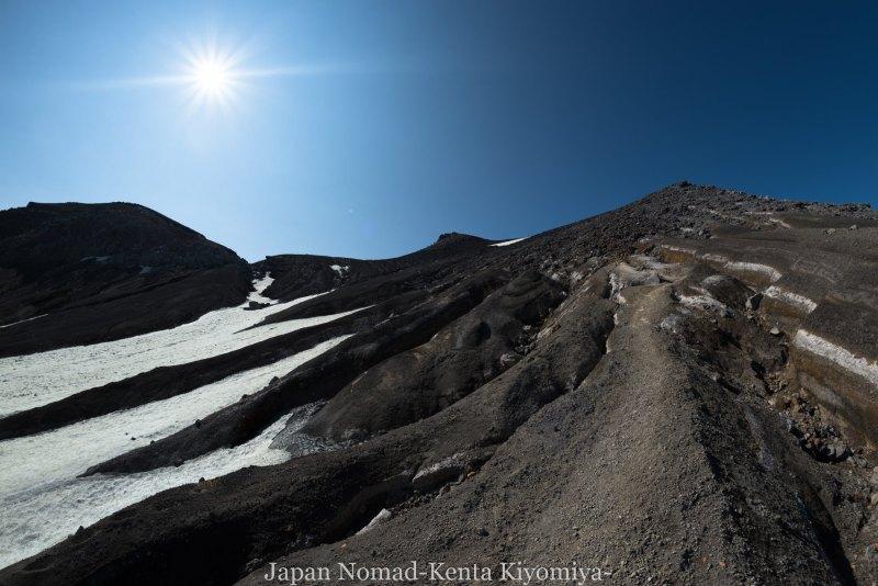自転車日本一周(十勝岳)-Japan Nomad (27)