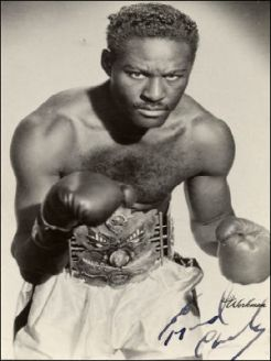 Ezzard Charles signed photo