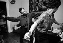 James Baldwin and Lorraine Hansberry dancing