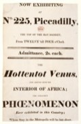 Poster announcing the appearance of Sarah Baartman, 1811