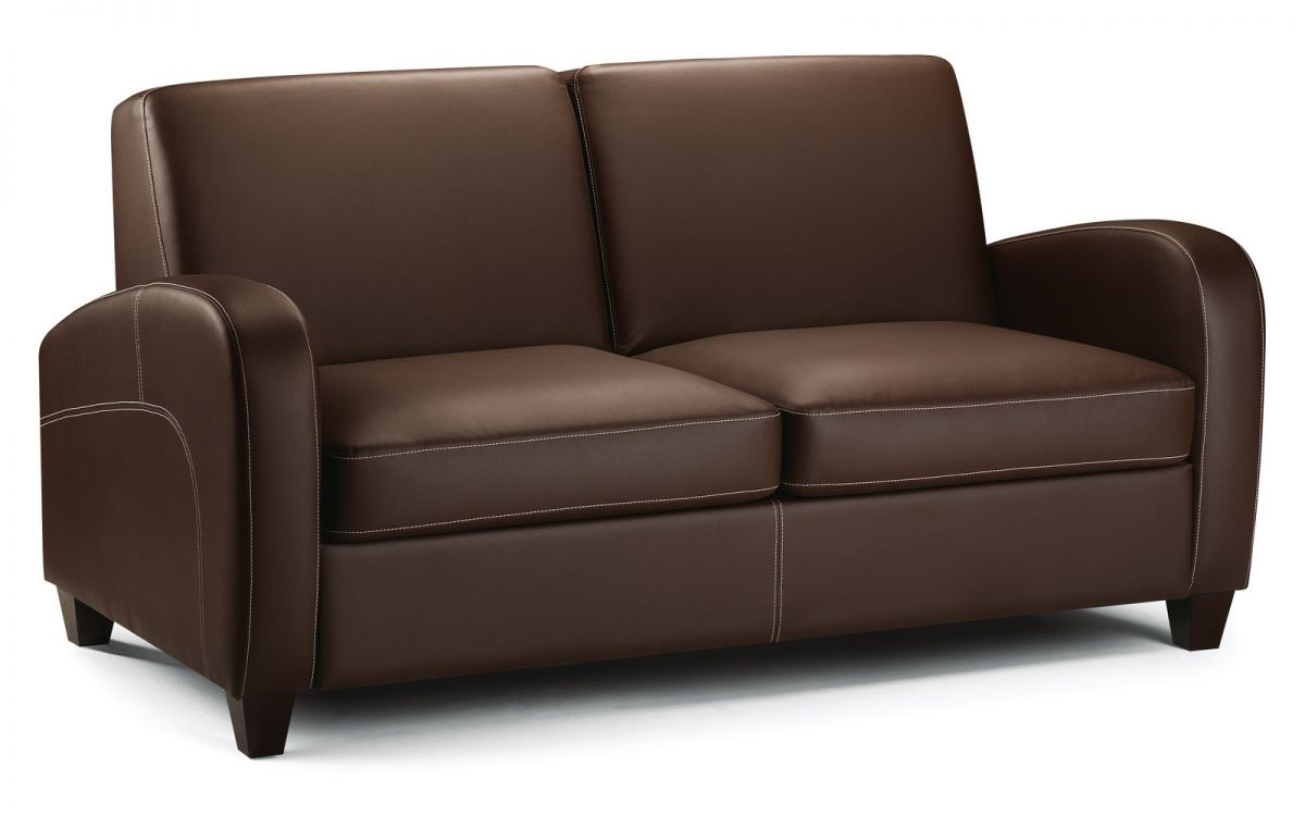 Viva Sofabed Chestnut Faux Leather Folkestone Ramsgate Dover Kent Beds And Sofas Ltd