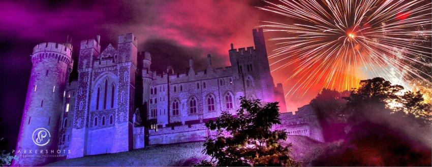 Arundel Castle with Fireworks