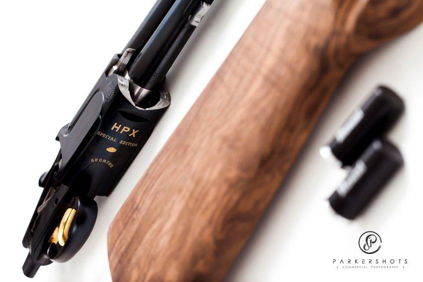 Parkershots Commercial photograph of custom shotgun
