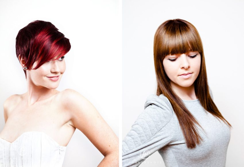 Models showing hair style by The Studio in Tunbridge Wells