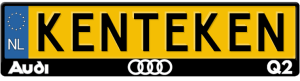 Audi-Q2-kentekenplaathouder