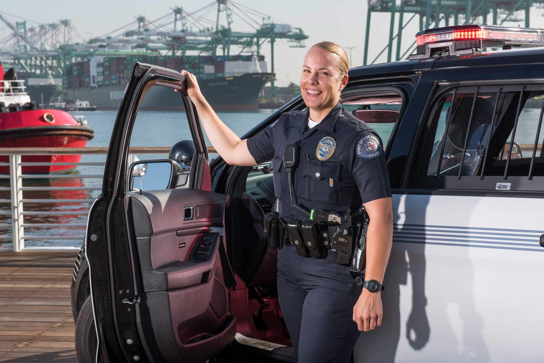 hight resolution of port police on patrol