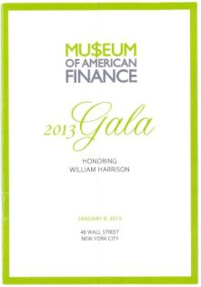 museum of american finance 20013 Gala Kent Swig
