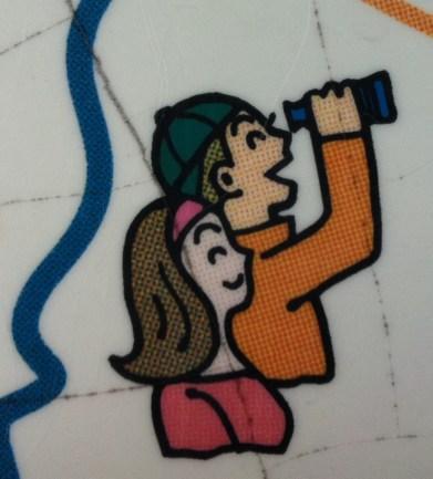 a - couple binoculars