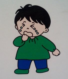 1 - boy cried green shirt