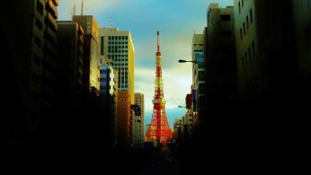 Tokyo Tower in the early morning sunrise.