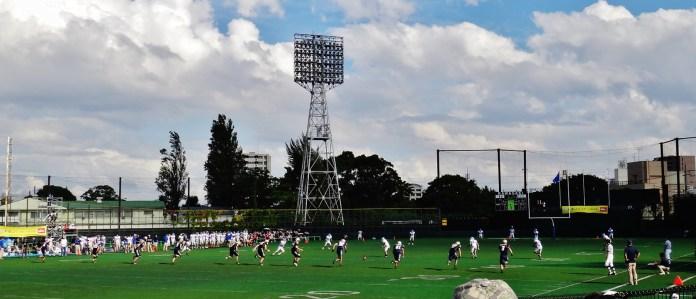 American footbal in Japan kick-off