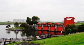 Arakawa red sluice gate