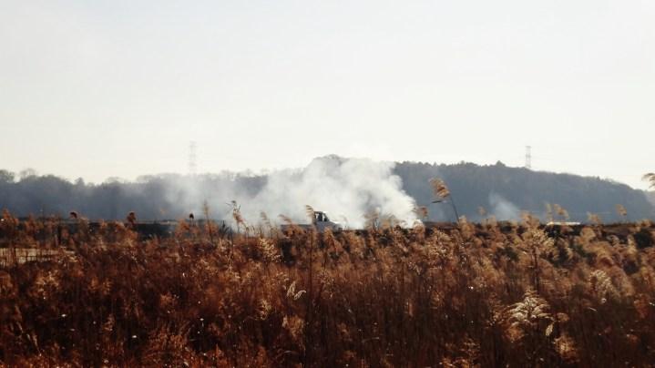 east of Yukarigaoka smoke fire