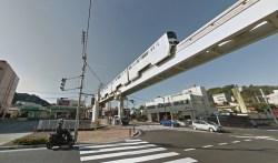 Tama Monorail near Takahatafudo Station.
