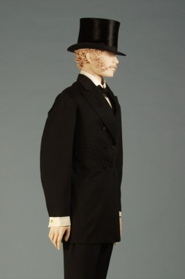 Frock coat and trousers, American ca. 1876, KSUM 1986.41.2 ab