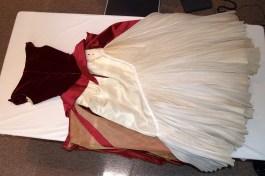 Interior of skirt, Charles James gown, KSUM 1983.1.413