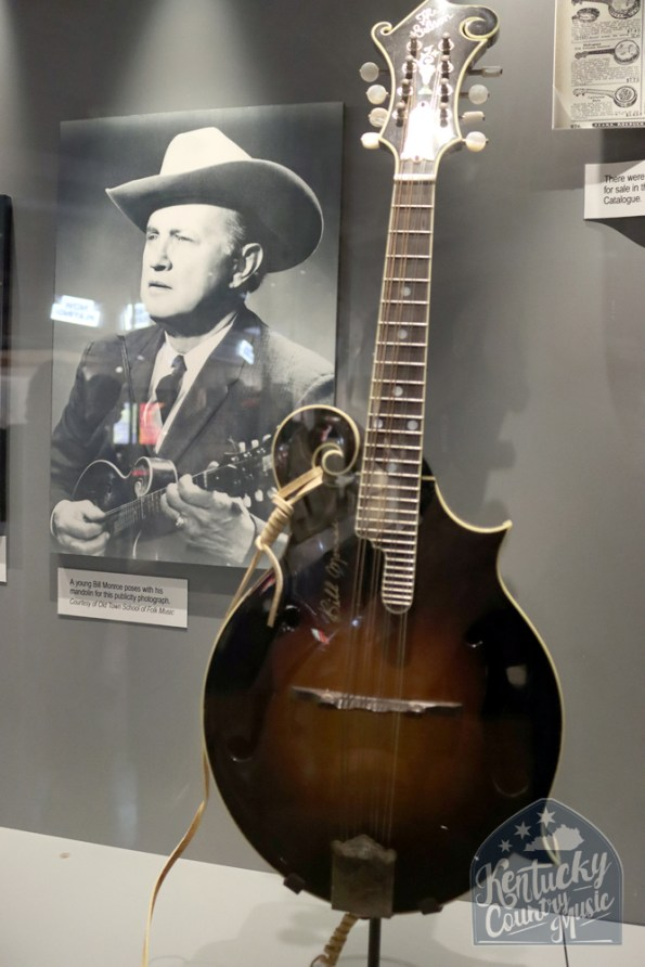 Bill Monroe mandolin on display at the Birthplace of Country Music Museum in Bristol, VA. Photo by Jessica Blankenship.
