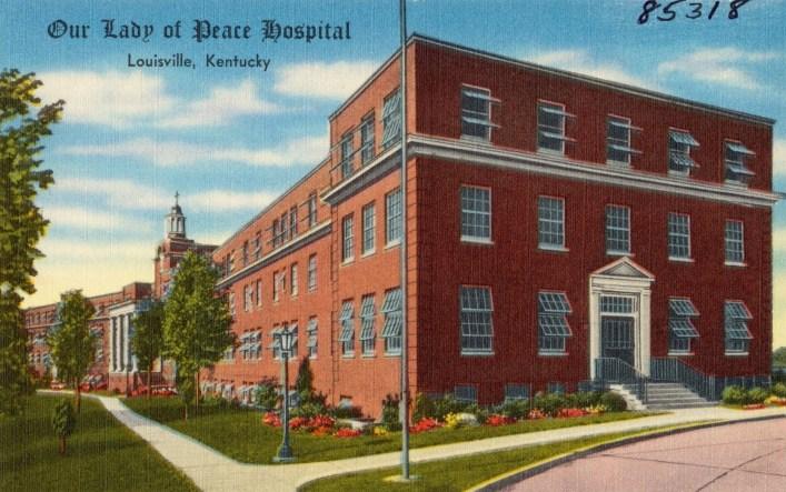 Our Lady of Peace Hospital, Louisville, Kentucky. Tichnor Bros. Inc., Boston, Mass., 1930. Web. 19 Jun 2017. .