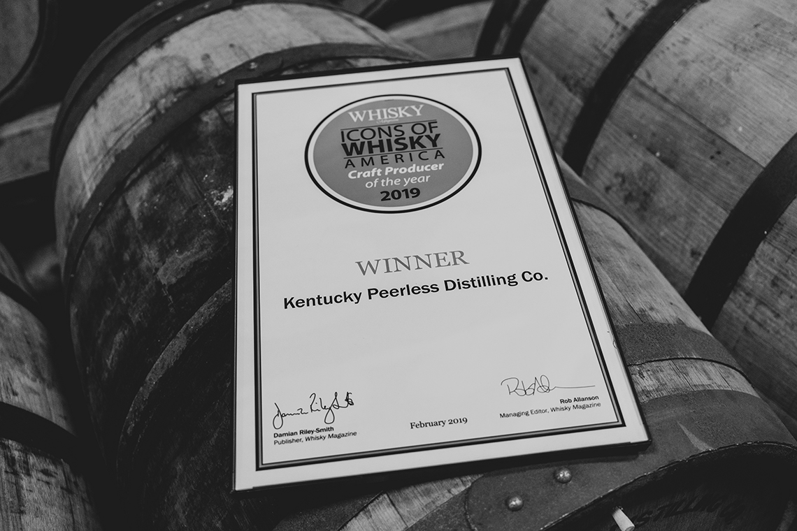 Best Craft Distillery 2019 Peerless 3 - Kentucky Peerless Named Craft Producer of the Year