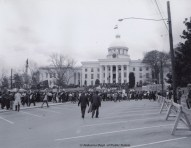 State capitol in Montgomery on the final day of the Selma to montgomery March.