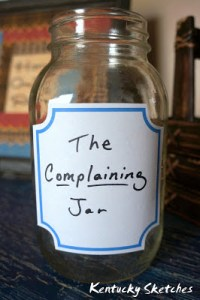 When Kids Complain–The Complaining Jar