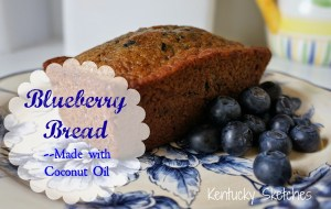 Blueberry Bread Made with Coconut Oil