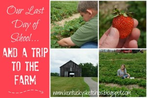 Our Last Day of School and a Trip to the Farm