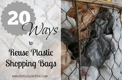 20 Ways to Reuse Plastic Shopping Bags