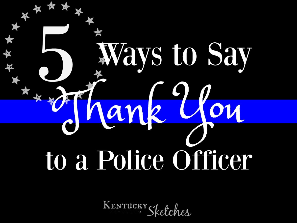 Thank You Letter In Law Enforcement