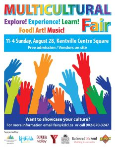 Kentville's Multicultural Fair Is Returning ~ August 28th