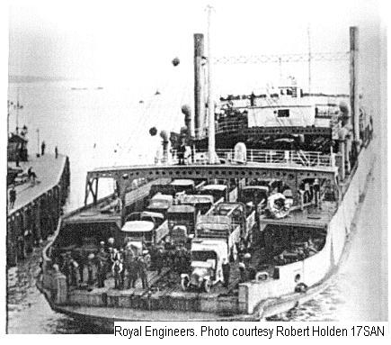 17SAN - Richborough Port - Early example of RORO ferry