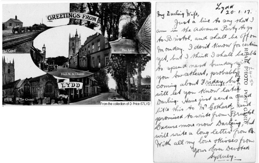57LYD – Lydd (Front & Back Of Postcard)