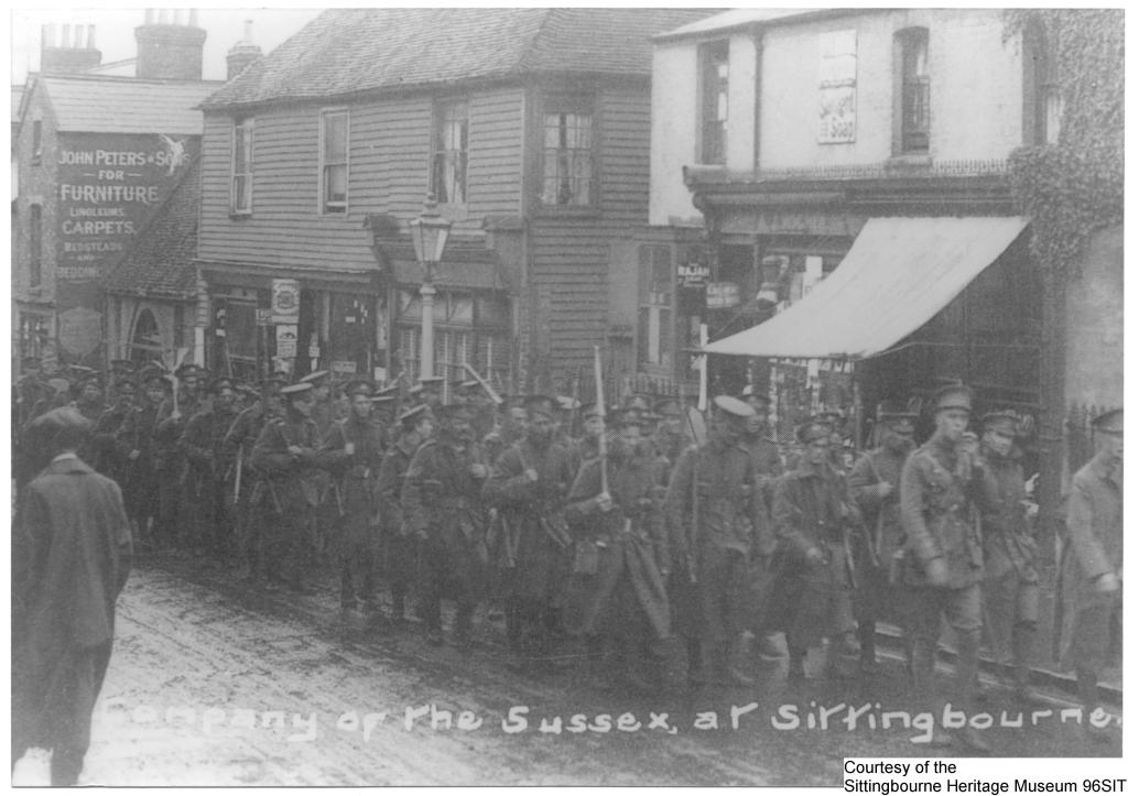 96SIT - Company of the Sussex Regt in Sittingbourne – West Street