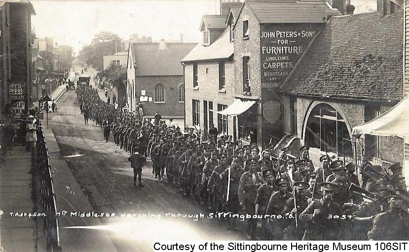 106SIT – Troops of 7th Middlesex in West Street, Sittingbourne