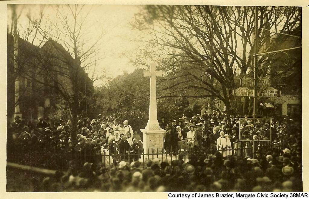 38MAR - Unveiling Birchington War Memorial 1