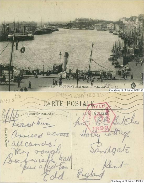 143FLK - Mrs E. Butcher (Postcard) (Front & Back) 2