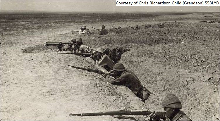 558LYD - Turkish troops attempting to take the Suez Canal 2