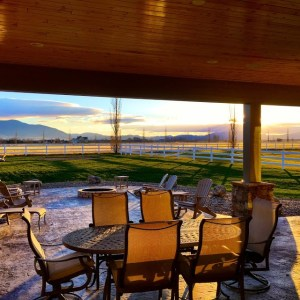 Montana outdoor living with covered patio