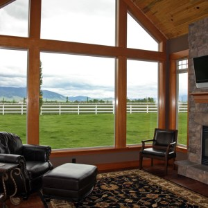 Custom windows embracing Montana views