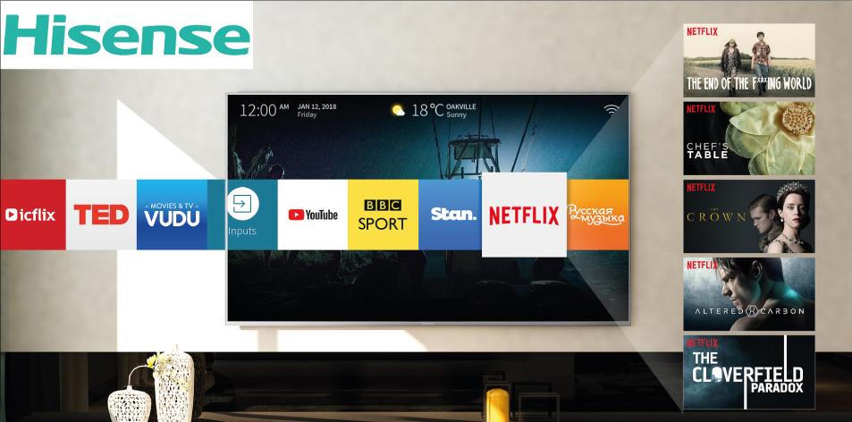 Hisense TV 55″ 4K UHD SMART | A6100 + TV Wall Mount @ 69,995