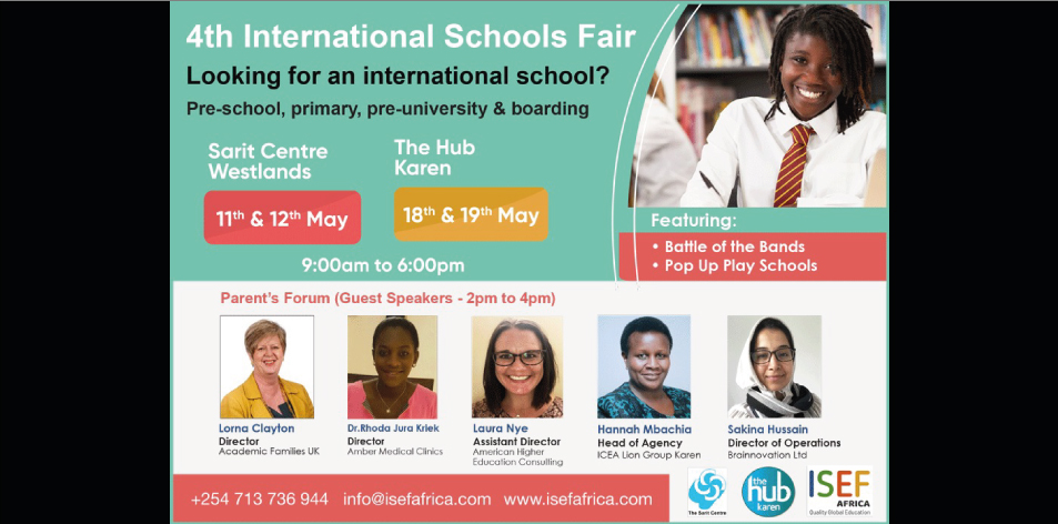 The 4th International Schools Fair This Weekend At The Sarit Centre- 11th & 12th May 2019