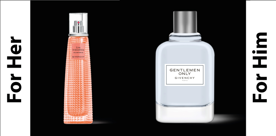 H&S Recommended Perfumes: GIVENCHY: For Him- Gentlemen Only & For Her- Live Irrésistible
