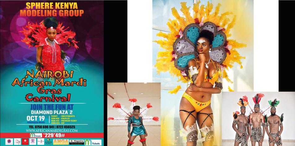 Nairobi African Mardi Gras Carnival Festival- Mashujaa Weekend 19th-20th October 2019- Diamond Plaza 2