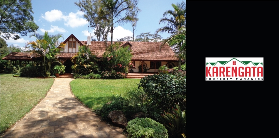 5 Bedroom Main House, 2 bedroom Guest Cottage & 1 Bedroom Guest Cottage Located In Langata