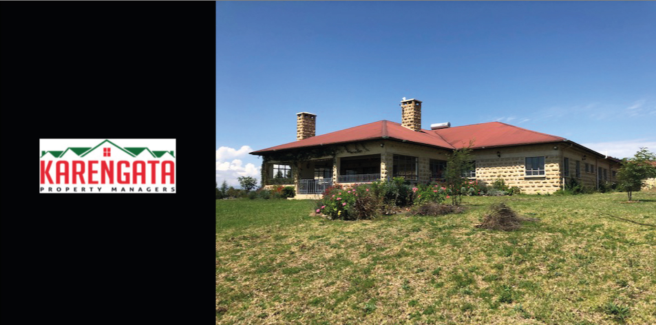 5 Bedroom House With Extensive Servants Quarters & Stables Standing On 14 acres With Stunning Views Of The Rift Valley