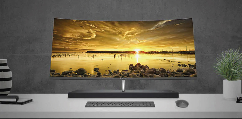 "HP ENVY 34"" Curved All-in-One. Total immersion. Absolute seduction.- From $3,500"
