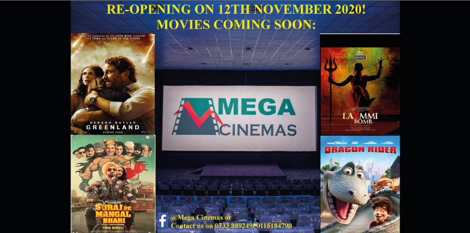 MEGA CINEMAS KISUMU CINEMA GUIDE RE-OPENING: 12th-19th November 2020